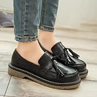 נשים-נעליים ללא שרוכים-PU-נעלי בובה (מרי ג'יין)-שחור-קז'ואל-עקב שטוח