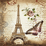 180x180cm Eiffel Tower Fashion Shower Curtain Bathroom Waterproof Fabric