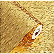 מוצק / 3D טפט עבור בית עכשווי וול כיסוי , PVC/Vinyl חוֹמֶר דבק נדרש טפט , Wallcovering חדר