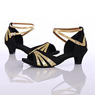 Sapatos de Dança(Preto / Azul / Vermelho / Outro) -Feminino-Personalizável-Latina / Tênis de Dança
