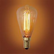 st48 e14 40W gløde vintage lyspære for husholdning bar kaffebar hotellet (AC220-240V)