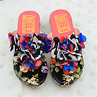 Girl's Sandals Summer Flip Flops PU Casual Flat Heel Flower Blue / Red / White Others