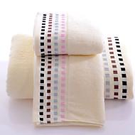 סט מגבות אמבטיה כחול / ורוד / צהוב,ג'קארד איכות גבוהה 100% כותנה מַגֶבֶת