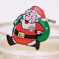 1db mikulás villogó kitűző karácsonyi díszek kitűzőt