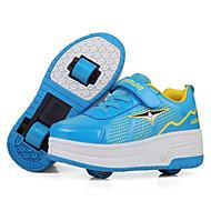 יוניסקס-נעלי ספורט-עור-נעלי סקטים-שחור / כחול / ורוד-שטח / ספורט-עקב נמוך