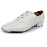 Na míru-Pánské-Taneční boty-Latina-Koženka-Kačenka-Černá / Bílá