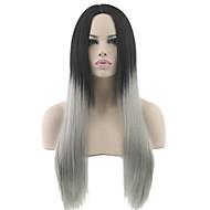 Costume Wig Peruukit naisille Grey Gradient puku Peruukit Cosplay Peruukit