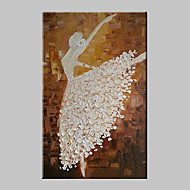 Hand-Painted Abstract People Vertical,Modern Traditional One Panel Canvas Oil Painting For Home Decoration