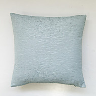 Wrinkled pure color cushion cover-Cyan