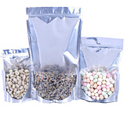 hylle aluminiumsfolie ziplock bag glidelås trekker uavhengighet bein pakket mat poser en pakke ten13 * 20 * 4