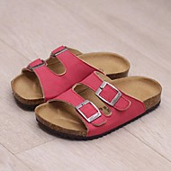 Unisex Clogs & Mules Summer Slippers Casual Flat Heel Buckle Black / Blue / Brown / Green / Red Others