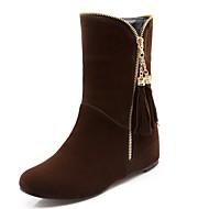 Podpatky-Syntetika Lakovaná kůže Koženka-Platformy Módní boty Kovbojské Sněhule Jezdecké boty-Dámské-Černá Modrá Hnědá Červená-Svatba