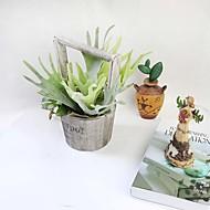"""1 Bunch 1 haara PU / Real touch Kasvit Seinäkukka Keinotekoinen Flowers Total Length:12.6"""""""