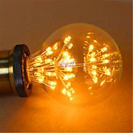 2 E26/E27 Lâmpada Redonda LED G125 49 LED Dip 800 lm Amarelo Decorativa AC 220-240 V 1 pç