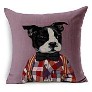 1 יח כותנה/פשתן ציפית לכרית / כרית גוף / כרית הספה,מצחיק / הדפס בעלי חיים מודרני / עכשווי