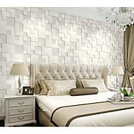 Geométrico / Art Deco / 3D Papel de Parede Para Casa Contemporâneo Revestimento de paredes , Tecido Não-Tecelado Materialadesivo