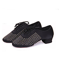 Dansesko(Sort / Blå / Brun / Rød) -Kan ikke tilpasses-Chunky heels-Damer-Latin