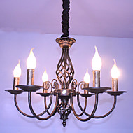 American retro candle 6 lamp wrought iron restaurant