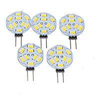 5W G4 Spot LED MR11 9 SMD 5730 360-450 lm Blanc Chaud Gradable DC 12 / AC 12 V 5 pièces