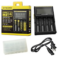 Nitecore® D4 Flashlight Accessories Chargers Smart Power Display Everyday Use