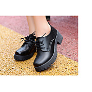 Women's Heels Spring / Fall Fashion Boots Leather Outdoor Low Heel Others Black Others