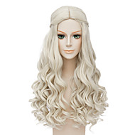 Fashion Long Curly Wig Blonde Color Synthetic Cosplay African American Wigs