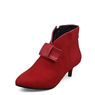 Feminino-Saltos-Botas Montaria Botas da Moda Botas de Cowboy Botas de Neve-Salto Baixo-Preto Vermelho-Sintético Couro Envernizado Courino-