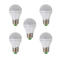 zdm ™ 5W E26 / E27 λαμπτήρες LED υδρόγειο G45 26 SMD 3022 350 lm θερμό λευκό AC 220-240 V 5 τεμ