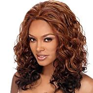 18inch středně hnědá # 4 krajky vpředu vlnité lidské vlasy Lidské vlasy krajka přední paruky