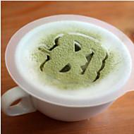 8pcs halloween Plastikgirlande Form Spray Phantasie Kaffee Milchschaum Druckmodellvorlage Muster ist zufällig