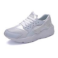 Uniseks Sneakers Comfortabel PU Lente Herfst Causaal Comfortabel Veters Platte hak Wit Zwart Rood Groen zwart/wit Plat