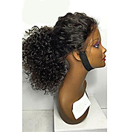 8A 8-30inch Glueless Lace Front Wigs Curly Natural Black Color Brazilian Human Hair Lace Wigs For Women