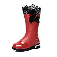 לבנות-מגפיים-עור פטנט-Others-שחור / ורוד / אדום-קז'ואל