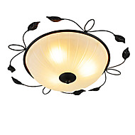 Creative Round Glass Art Ceiling Balcony Bedroom Minimalist Led Lace Ceiling Lamp (Diameter 55CM)