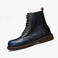 Γυναικεία παπούτσια-Μπότες-Καθημερινό-Επίπεδο Τακούνι-Ανατομικό-PU-Μπλε Καφέ Γκρι Μπορντώ