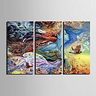 Pessoas / Fantasia Impressão em tela 3 Painéis Pronto para pendurar , Vertical