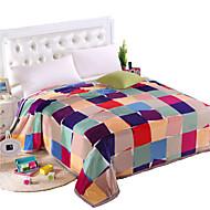 Super Suave Multi Cores,Estampado Riscas 100% Poliéster cobertores W200*L230cm