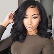 μόδα φυσικό μαύρο χρώμα σύντομο bob περούκα συνθετική περούκα