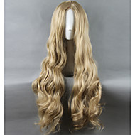Kvinder Lang Veldig lang Bleik Blond Rett Syntetisk hår Lokkløs Naturlig parykk Halloween parykk Karneval Parykk