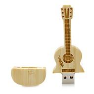 מוצרים Neutral Wooden Guitar 8GB USB 2.0 עמיד לזעזועים