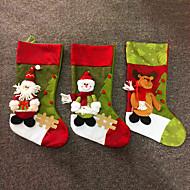 titulares grande moda meias de tecido de Natal presentes sacos de decoração da árvore de veado santa snowman padrão Saco do Natal meias