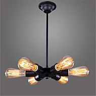 Living Room Cafe Bar Cafe American Rural Industrial Wind Personality Six Head  A Chandelier