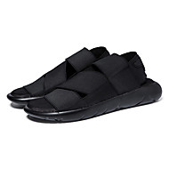 Men's Sandals Summer Comfort Fabric Casual Flat Heel Others Black Purple Black and White Others