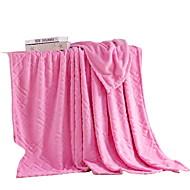 Velocino de Coral Rosa,Sólido Sólido 100% Poliéster cobertores 200x230cm