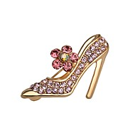 Hot Sale Shining Crystal High-heeled Shoes Brooch for Women