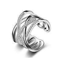 Anéis Cristal / imitação de diamante Sexy / Crossover / Fashion / Ajustável / Adorável / Multi-maneiras WearCasamento / Pesta / Diário /