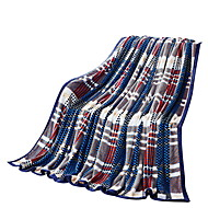フランネル マルチカラー,純色 格子柄 ポリエステル100% 毛布 200x230cm