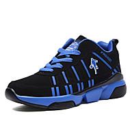 Masculino-Tênis-MaryJane-Rasteiro-Azul Preto e Vermelho Preto e Branco-Cashmere-Ar-Livre Para Esporte