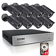 ZOSI®HD 8CH 720P CCTV Security System 8PCS 1200TVL IR Outdoor AHD 720P Surveillance Cameras with 1TB