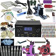 3 x tetovací strojek pro linky a stínování z litiny LED napájení 50 x tetovací jehla RL 1 6 3 x hliníková rukojeť 40 × 5 mlstartovací